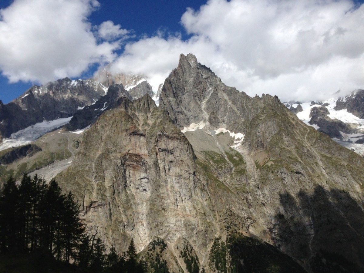Hiking above Courmayeur, Italy Monday 26 Aug